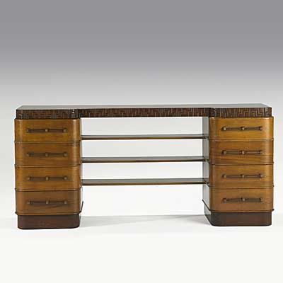 Captivating K.E.M. WEBER; GRAND RAPIDS FURNITURE CO.; Mahogany And Birch Sideboard, 1929