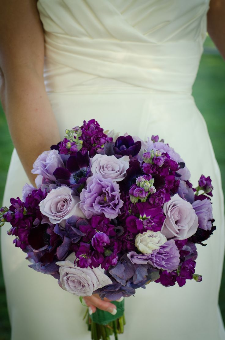 42 best purple and grey wedding flowers images on pinterest shades of purple flower wedding bouquet dhlflorist Choice Image