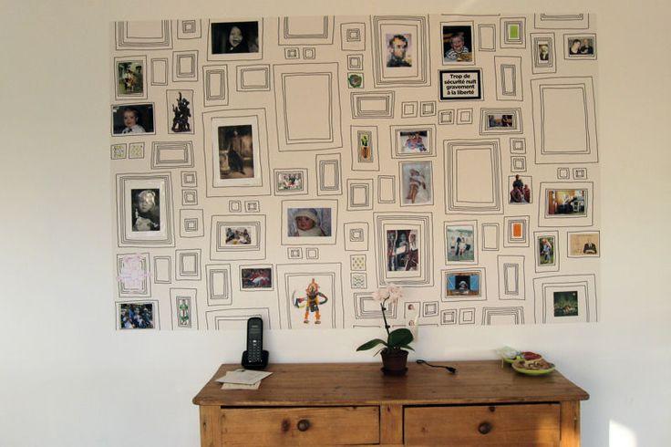 L'imprimé cadres photos : 10 idées déco spécial papier peint - Journal des Femmes Décoration