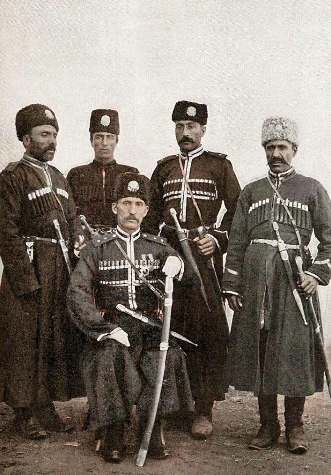 Members of the Qarapapaq regiment of the Hamidiye.  The Hamidiye corps were well-armed, irregular Sunni Kurdish, Turkish, Turkoman, Qarapapaq, Yörük, Arab & Circassian cavalry formations that operated in the eastern provinces of the Ottoman Empire.