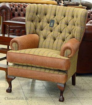 Dieser Winter wird warm: unser Pamela Wing Chair mit Harris Tweed