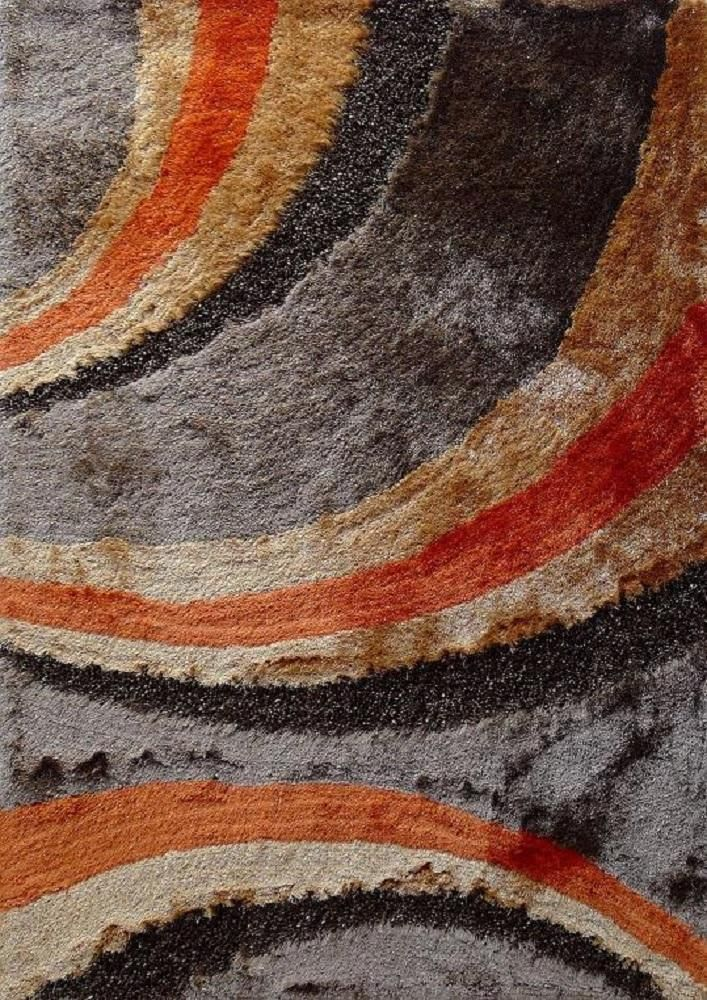 Brown Orange 5x7 Contemporary Area Rug With Images Area Rugs