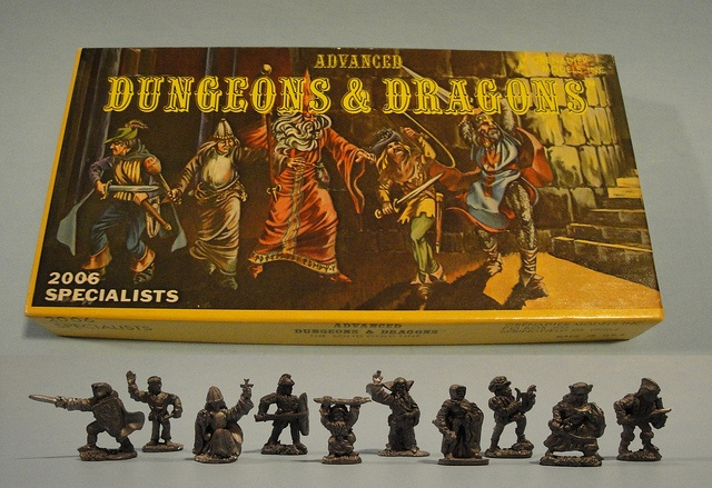 Advanced Dungeons and Dragons Miniatures. My brother had this very set. He used to paint them with exacting precision. Even did their little pupils.