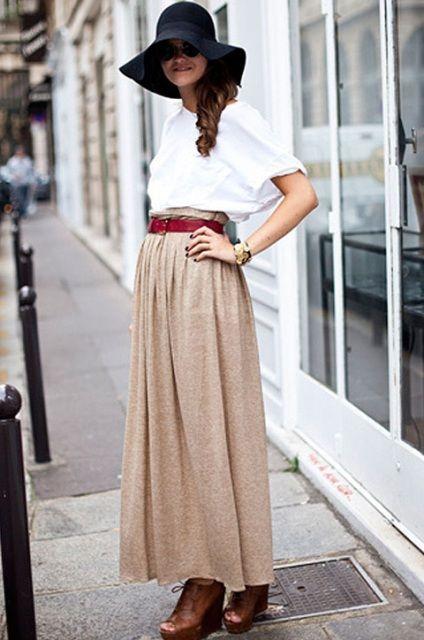 Πώς να φοράτε τις maxi φούστες