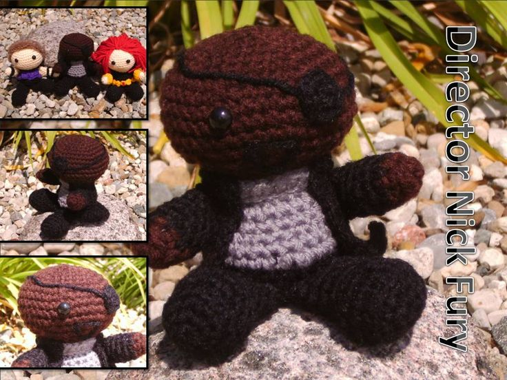 Avengers Nick Fury Crochet Doll by HookedonaGoodYarn ...