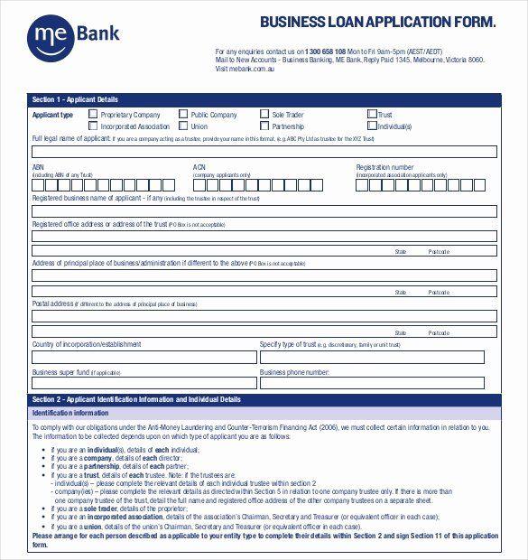 Personal Loan Application form Template Elegant 15