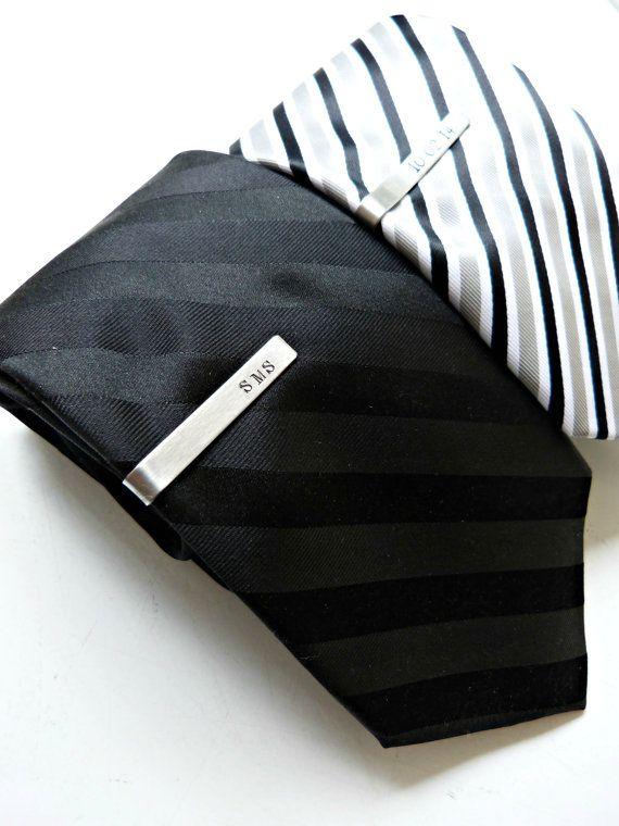 Tie Clip Men's Personalized Tie Clip Custom by vintagestampjewels, $18.00