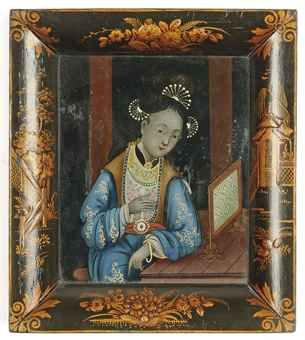 Chinese reverse glass painting: