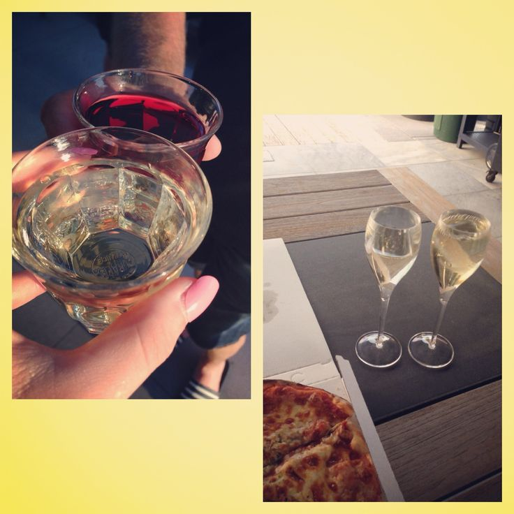 Pizza and wine <3