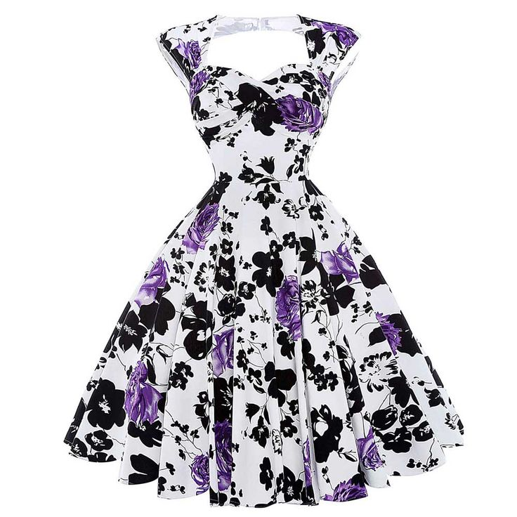 Summer Robe Rockabilly 50s Vintage Dresses Plus Size Retro Casual Party Dress Women Vestidos Floral Print Sexy Hollow Back
