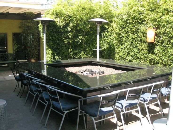 12 best Fire Pit Dining Tables images on Pinterest Dining room