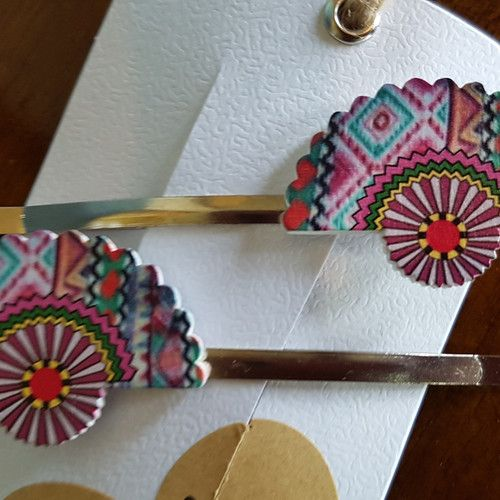 'Japanese Blossom' set of Large Hair Clips www.madewithlovebybee.com
