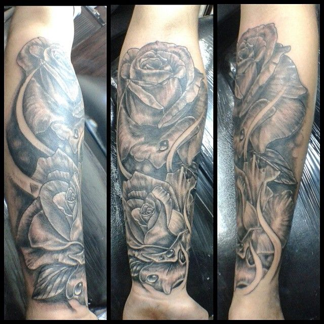 Flowers tattoo sombras