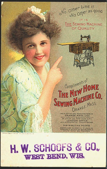 New Home Sewing Machine Co Vintage Advertising Postcard