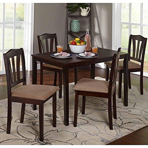 Metropolitan 5 Piece Wooden Dining Set 1 Table 4 Chairs