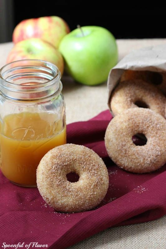 Baked Apple Cider Donuts - easy to make and perfect for fall weather!