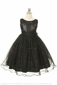 Black Sequenced Bodice flower girl dress. With elegant mesh skirt hemmed with yoro stitch. Matching inner lining with crinoline for even puffier elegant Looking flower girl dresses.