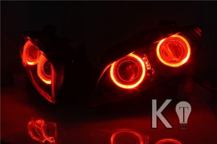 Yamaha YZF R1 Angel Eye HID Projector Custom Headlight Assembly 2007-2008