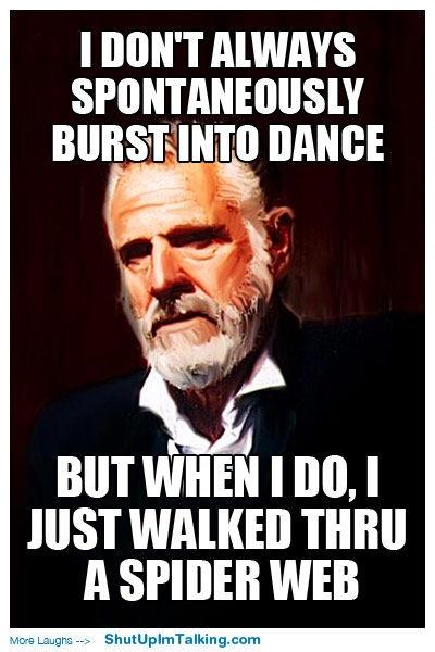 I DON'T ALWAYS SPONTANEOUSLY BURST INTO DANCE