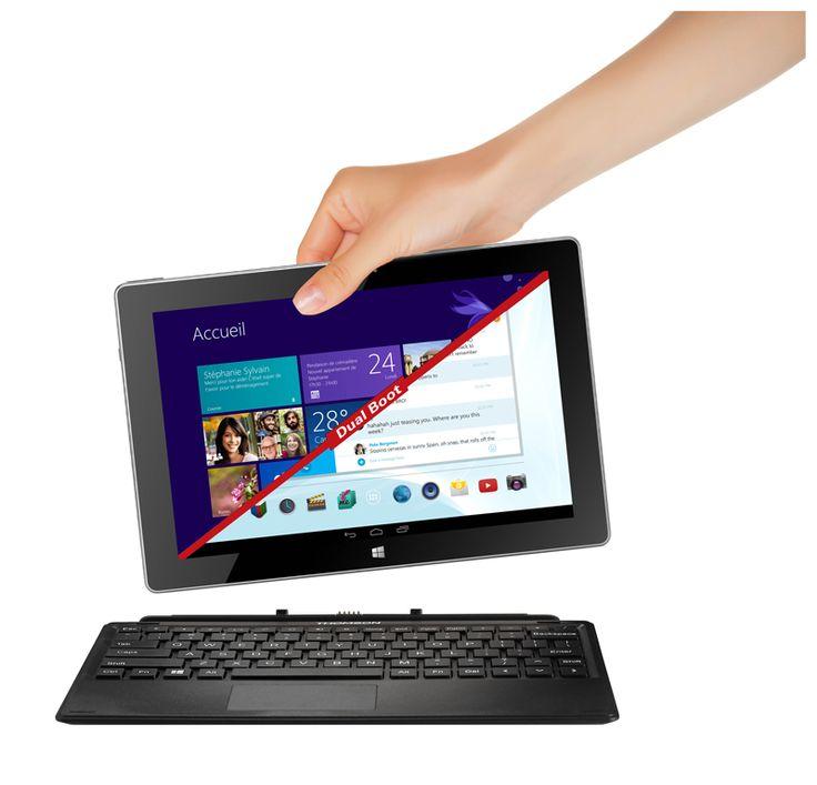 #Thomson lance sa première #tablette #PC avec double boot #Windows 8.1 et #Android 4.2. [Disponible le 1er mai - 299,90€ -  Points de vente : Auchan, Leclerc, Carrefour, Conforama, Cdiscount - www.thomsoncomputing.eu]