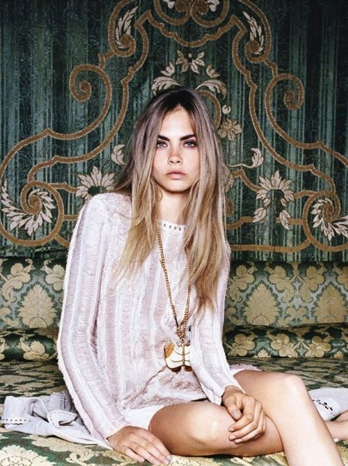 cara deleviegne // love her hair #beauty