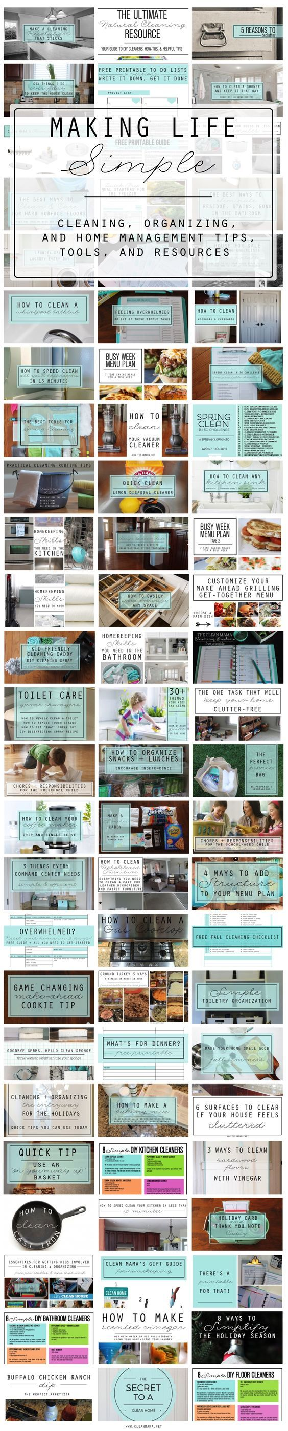 Cleaning, organizing and home management tips and tricks galore! Includes free printables, DIY recipes and a ton more.