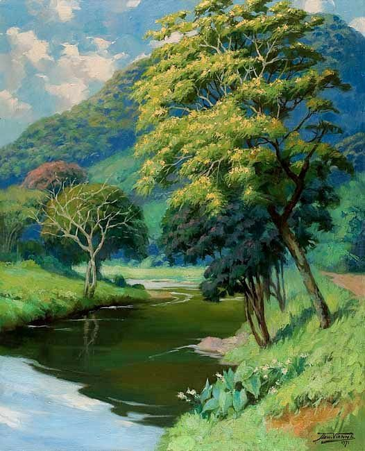 Morro do Borel, Rio de Janeiro, 1971, Armando Vianna ( Brasil, 1897-1992), óleo…