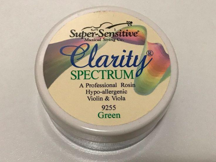 USA Super Sensitive Clarity Spectrum Hypallergenic Rosin for violin,viola Green #Spectrum