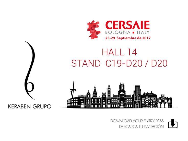 Descarga aquí tu invitación // Download your invitation here: https://www.cersaie.it/en/v_invito_espositori.php?e=1426a99fb