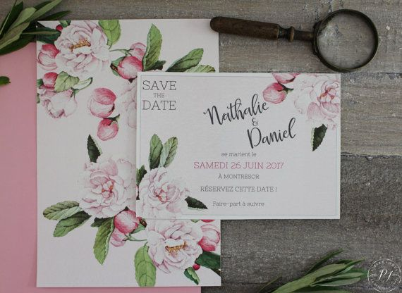 Save the date  Printable wedding save the date  by LaPapeteriedIvy