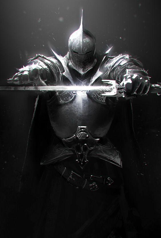 Knight Sketch by ChrisBjors.deviantart.com on @deviantART