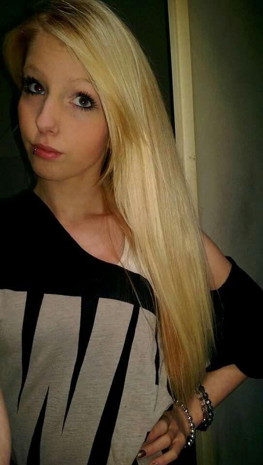 Blond long hair!