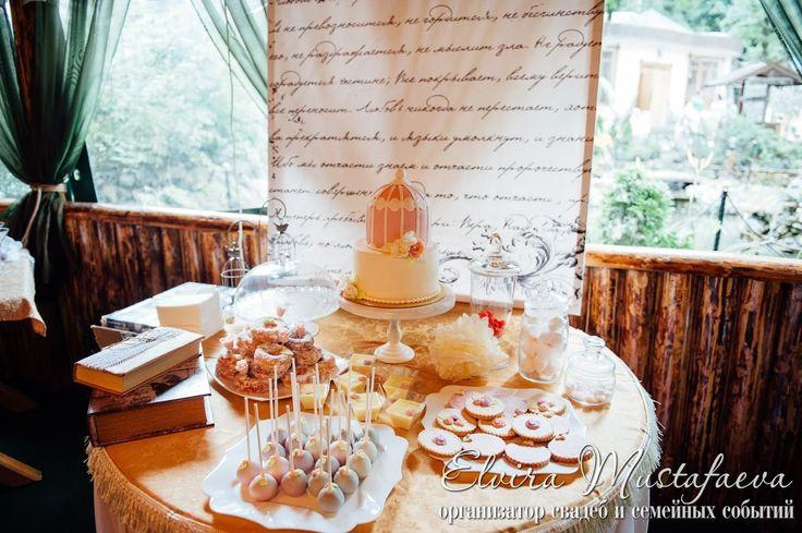 кенди бар wedding винтажный кенди бар сладкий стол пирожные торт  клетка торт