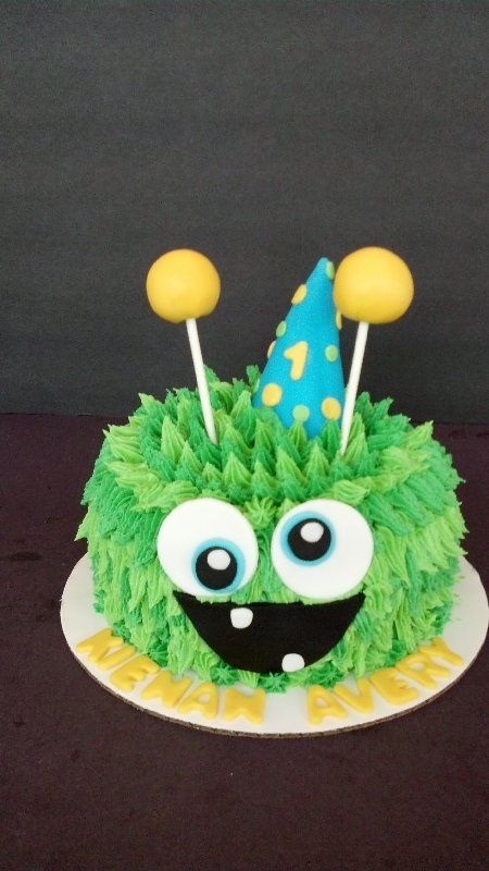 Monster Smash Cake Www.facebook.com / cakesmadebychrissy
