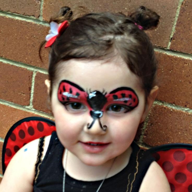 Ladybird face paint