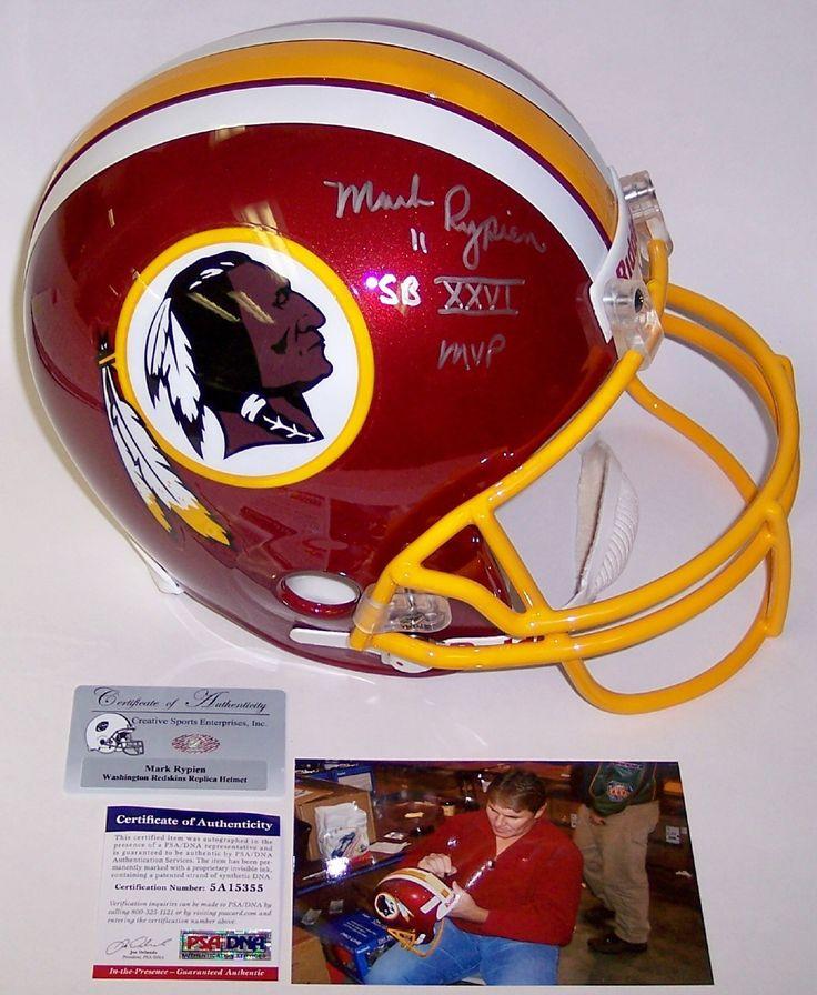 Mark Rypien Autographed Hand Signed Washington Redskins Full Size Helmet - PSA/DNA