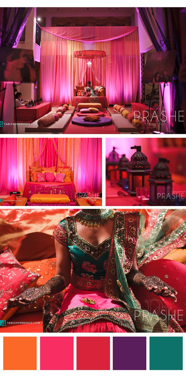 Indian Birthday Party Ideas- color pallet