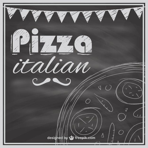 доска шаблон меню пиццы Бесплатные векторы