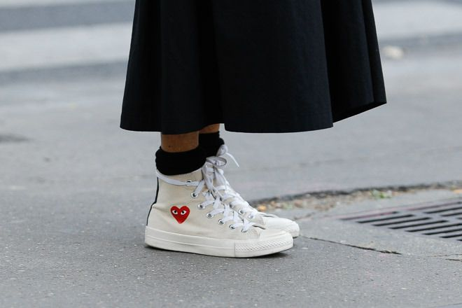 esposa Específicamente pobre  people wearing comme des garcons | Outfits with converse, How to wear,  Street style