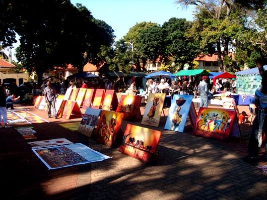 the open air market in durban, SA.