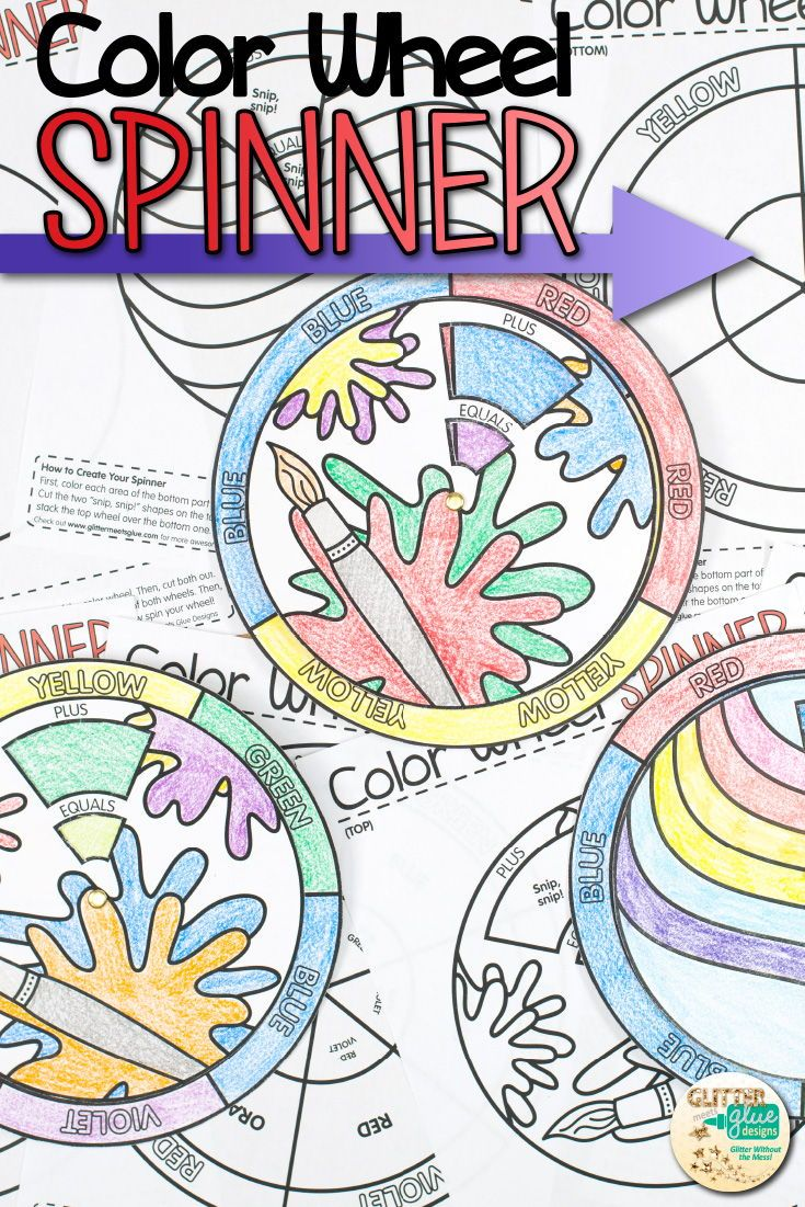Color Wheel Spinners Color Pinterest Color Wheels Curriculum