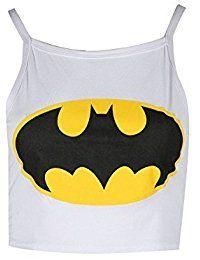 Be Jealous Damen Batman Ärmellos Mini Bauchfreies Top Damen Bustier T-shirt Tank