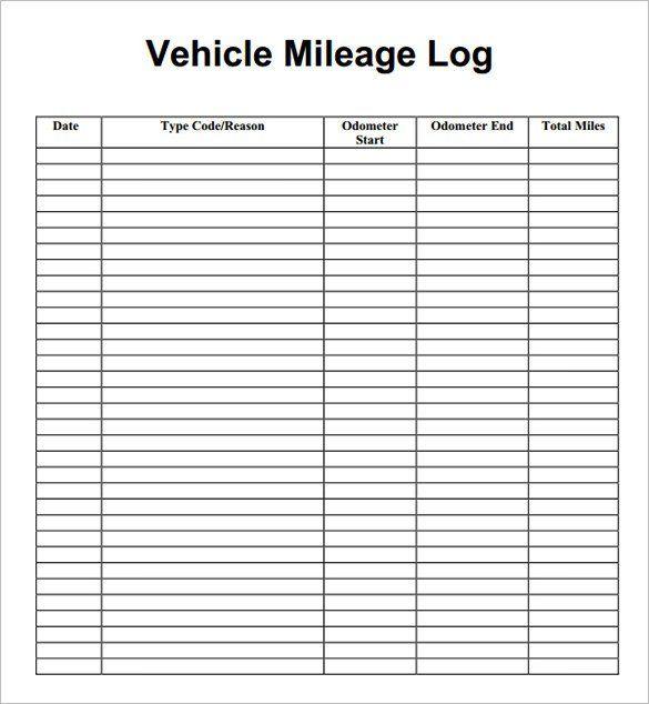 Image result for blank mileage log | Mileage logging ...