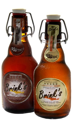 Brink's beer, is fresh, organic, unfiltered beer that is made in Rethymno, Crete and tastes great!