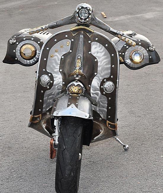 The Guaridan, an astounding custom Vespa featured on ScooterFile.com