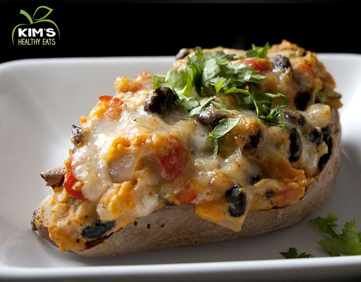 Mexican Twice Baked Sweet Potato