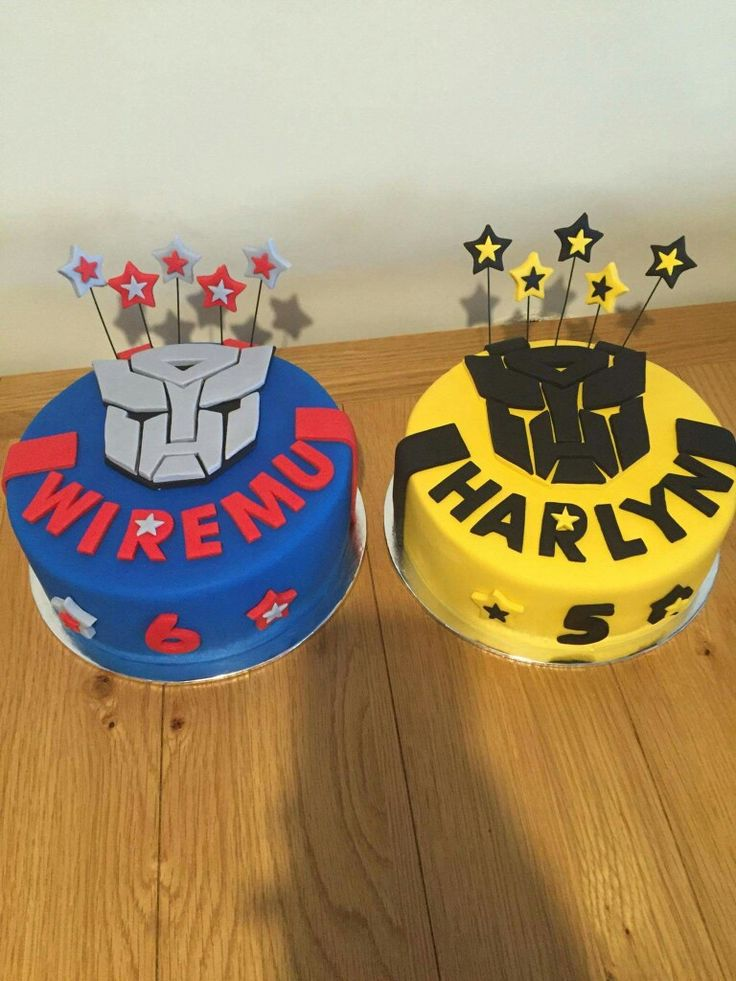 Transformers cakes optimus prime & bumble bee