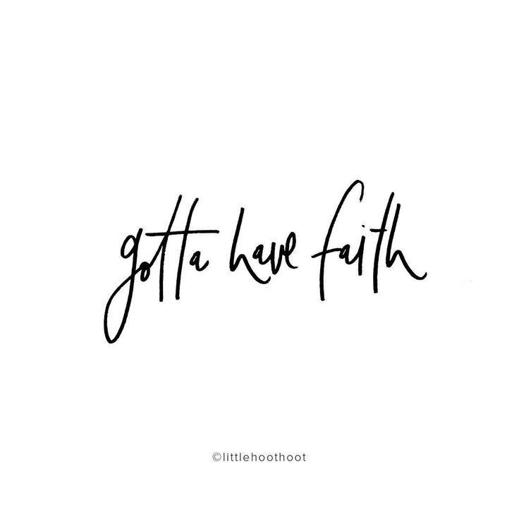 Gotta have faith handlettering by Bec Conlon