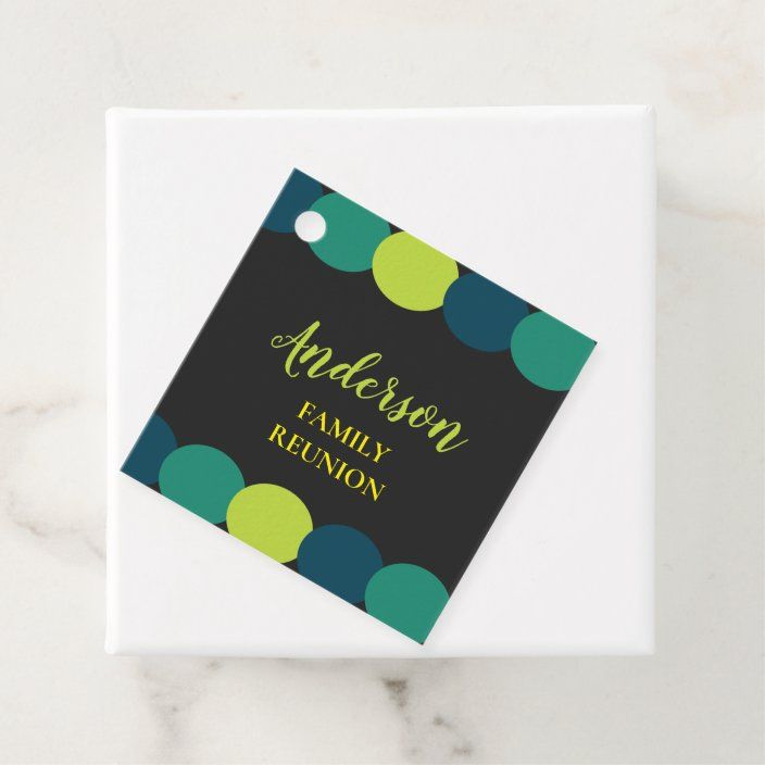 Family Reunion Modern Colorful Prize Gift Favor Tags Zazzle Com Prize Gifts Favor Tags Family Reunion