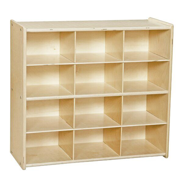 12 Compartment Cubby With Casters Cubby Storage Wood Storage Unit Wood Design